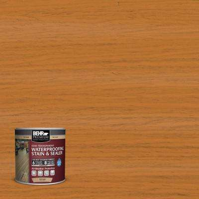 8 oz. #ST-140 Bright Tamra Semi-Transparent Waterproofing Exterior Wood Stain and Sealer Sample