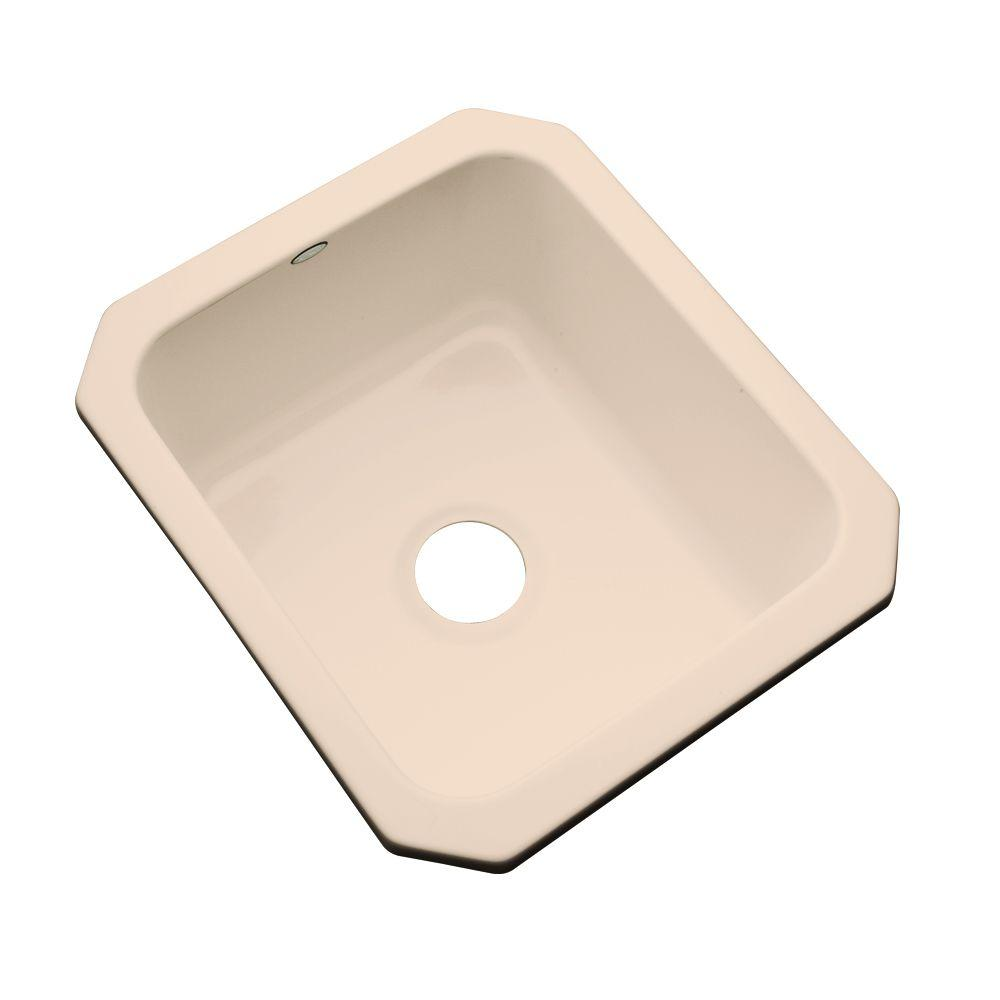 Crisfield Undermount Acrylic 17 in. Single Bowl Entertainment Sink in Peach