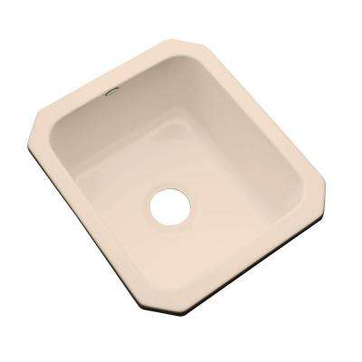 Crisfield Undermount Acrylic 17 in. Single Bowl Entertainment Sink in Peach Bisque
