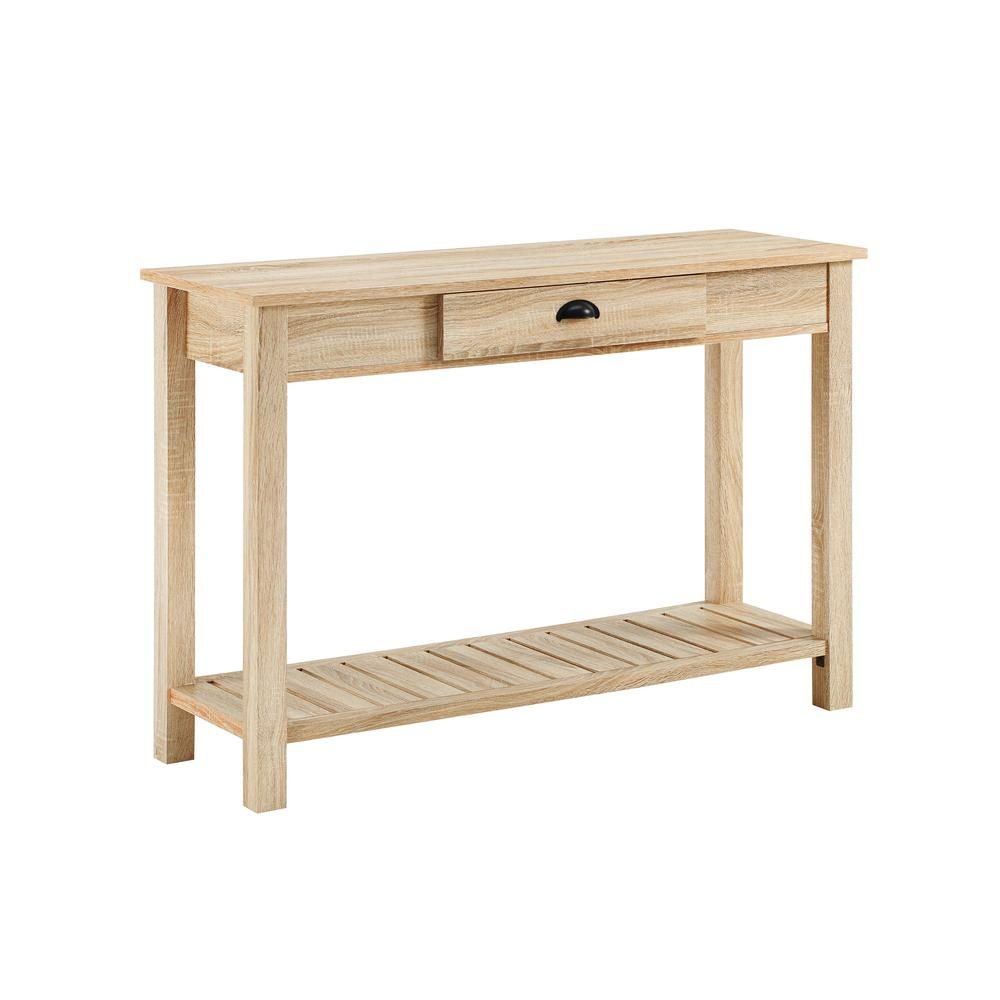 Walker Edison Furniture Company 48 In Country Style Entry Console Table Natural
