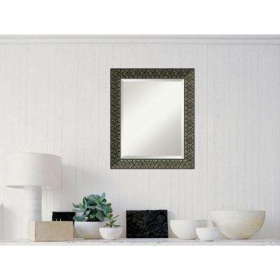 Intaglio Antique Black Wood 20 in. W x 24 in. H Traditional Framed Mirror