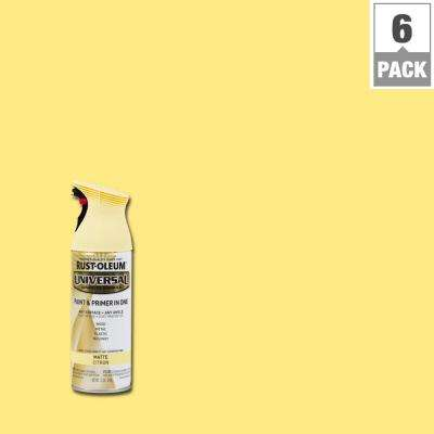 12 oz. All Surface Matte Citron Spray Paint and Primer in One (6-Pack)
