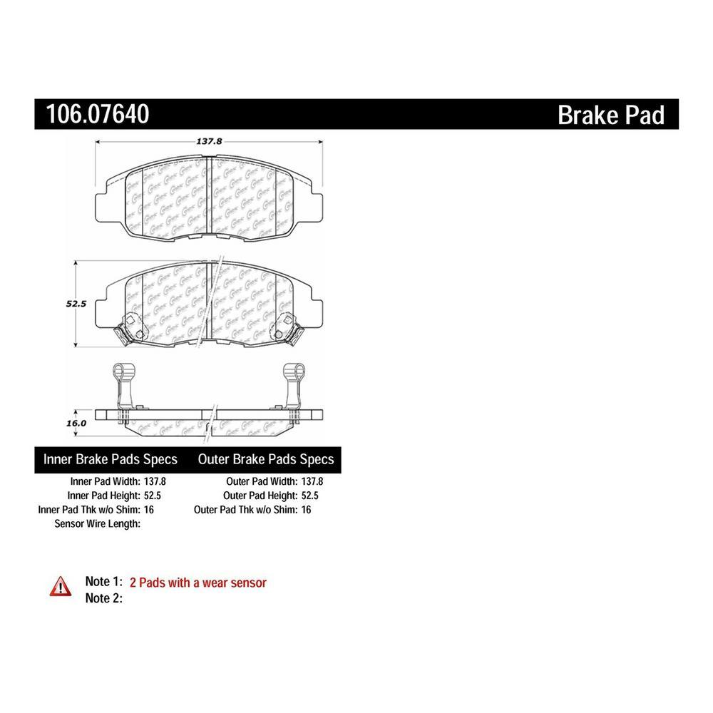 Centric Parts Disc Brake Pad Set