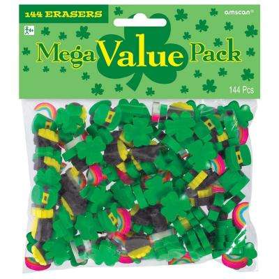 St. Patrick's Day Rubber Eraser Assortment (144-Count, 4-Pack)