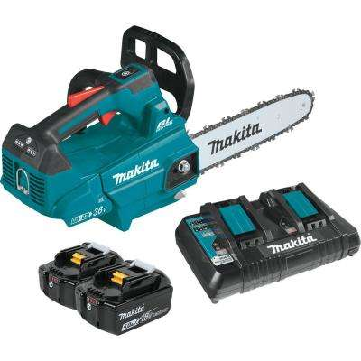 14 in. 18-Volt X2 (36-Volt) LXT Lithium-Ion Brushless Cordless Top Handle Chain Saw Kit (5.0Ah)