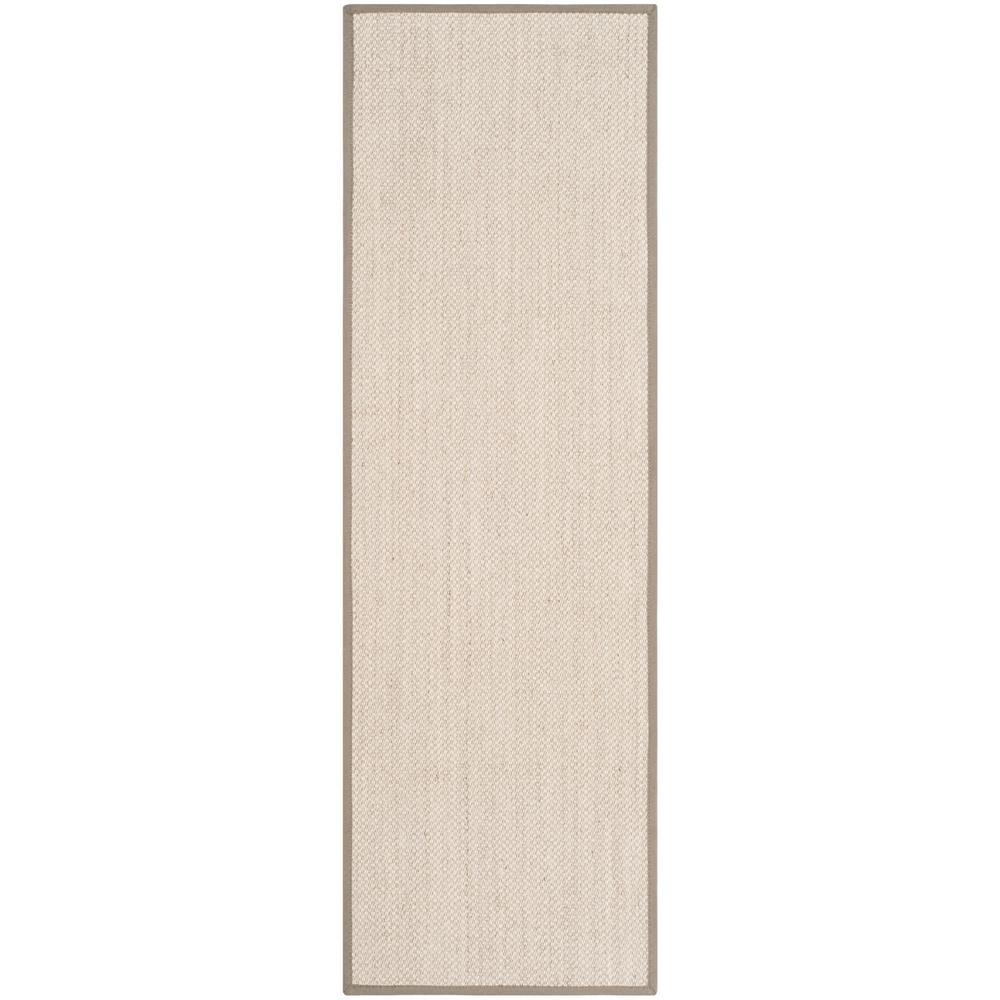 Natural Fiber Marble/Khaki 2 ft. 6 in. x 22 ft. Runner Rug
