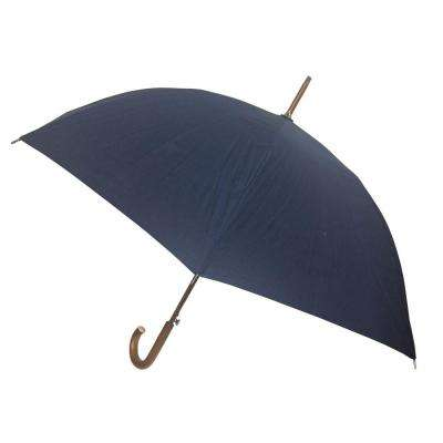 48 in. Arc Canopy Auto Open Stick Umbrella in Navy