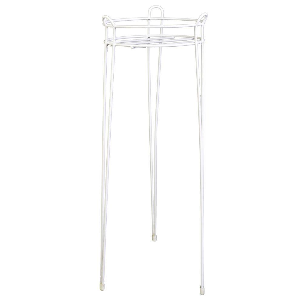 30 in. White Basic Steel Plant Stand