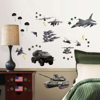 19.5 in. W x 34.5 in. H Military 62-Piece Wall Decal