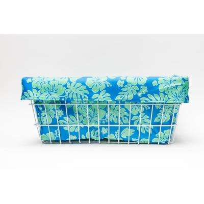 Extra Large Blue/Green Hibiscus Trike Liner