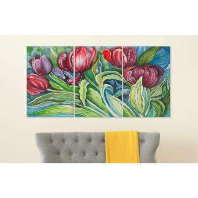 "30 in. x 20 in. ""Nouveau Tulips"" Wall Art"