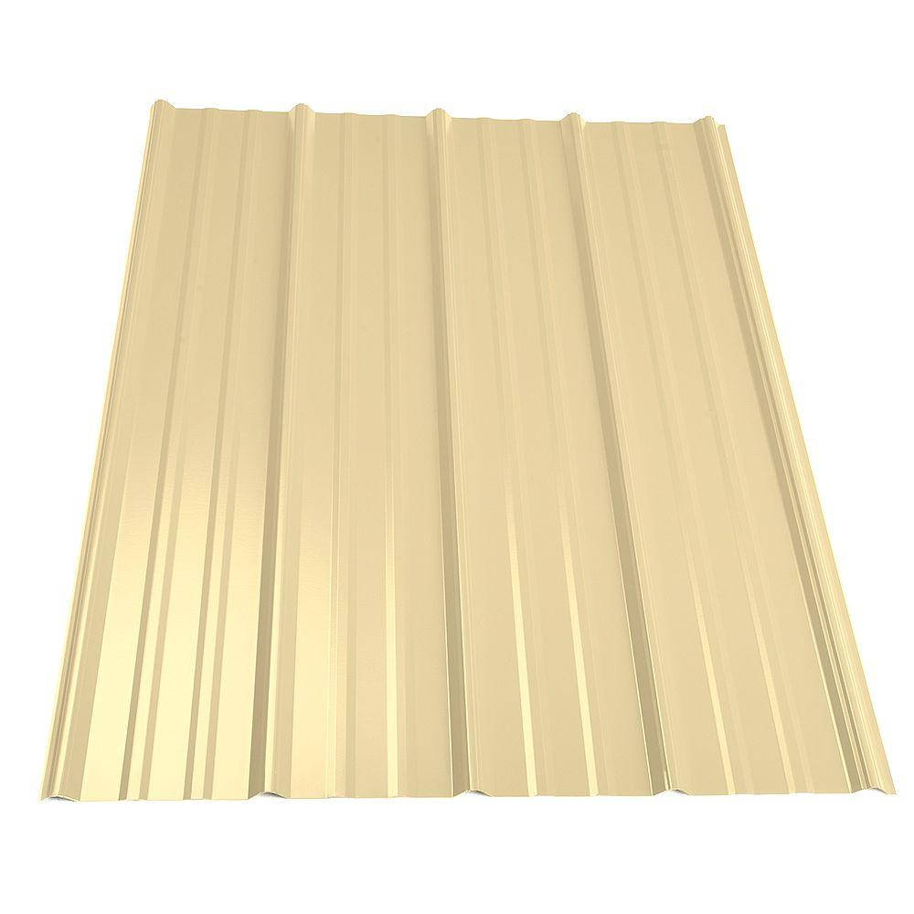 Superb Metal Sales 12 Ft. Classic Rib Steel Roof Panel In Light Stone