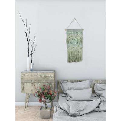 "Green ""Heart Macrame"" by Marmont Hill Wall Tapestry"