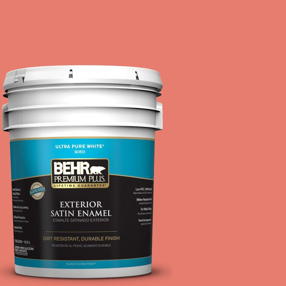 5-gal. #HDC-SM14-12 Cosmic Coral Satin Enamel Exterior Paint
