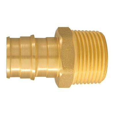 3/4 in. Brass PEX-A Barb x 3/4 in. MNPT Male Adapter