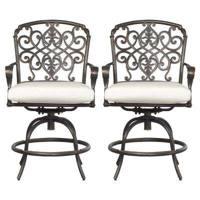 Edington Swivel Patio Balcony Chair with Cushions Included, Choose Your Own Color (2-Pack)
