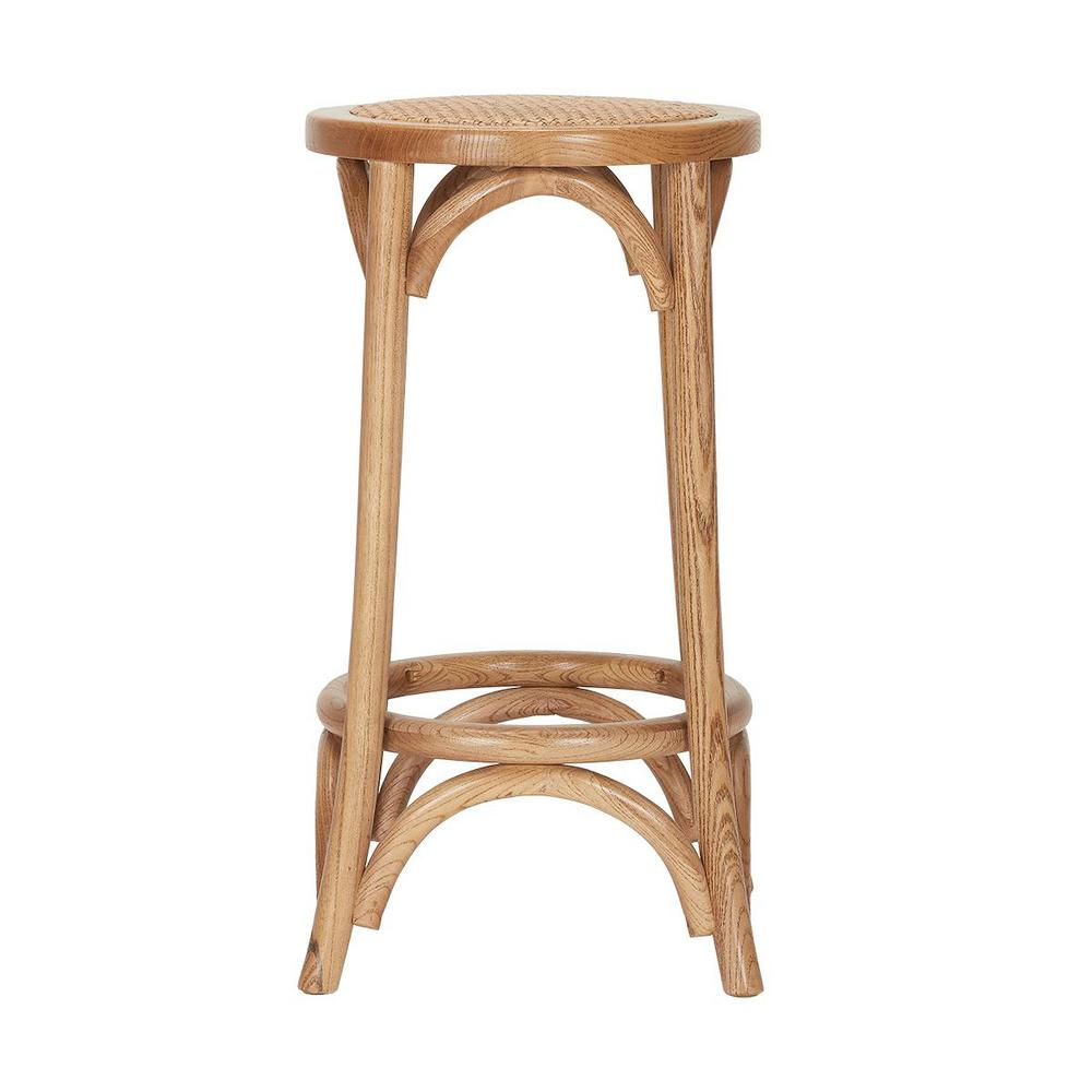 HomeDecoratorsCollection Home Decorators Collection Mavery Patina Oak Finish Wood Backless Counter Stool (13.8 in. W x 26 in. H)