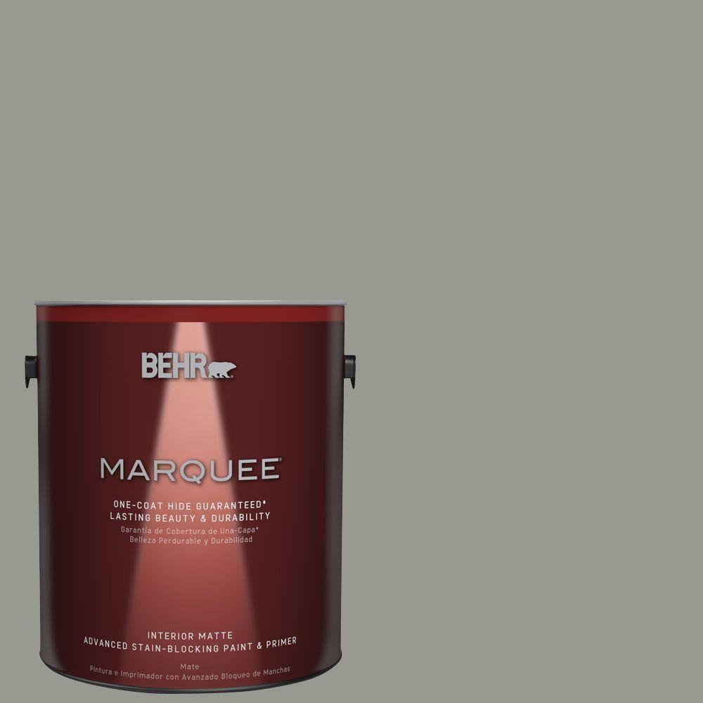 BEHR MARQUEE 1 gal. #MQ6-21 Hunter's Hollow One-Coat Hide Matte Interior Paint
