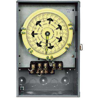 T7000B Series 40-Amp 7-Day Mechanical Time Switch with Indoor Enclosure - Gray