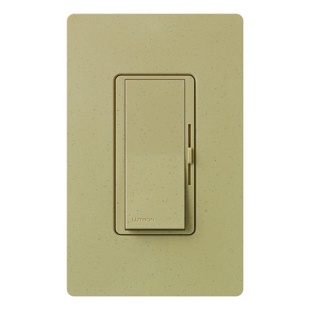 Diva Magnetic Low Voltage Dimmer, 450-Watt, Single-Pole or 3-Way, Mocha Stone