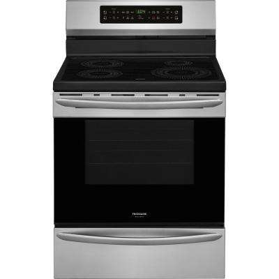 30 in. 5.4 cu. ft. Induction Range with Self-Cleaning Oven in Smudge-Proof Stainless Steel