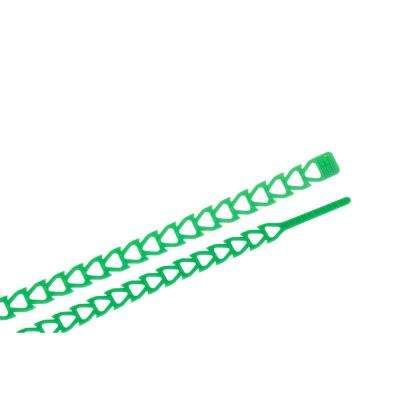 12 in. Flex Strap Cable Tie Green 12-Pack (Case of 10)