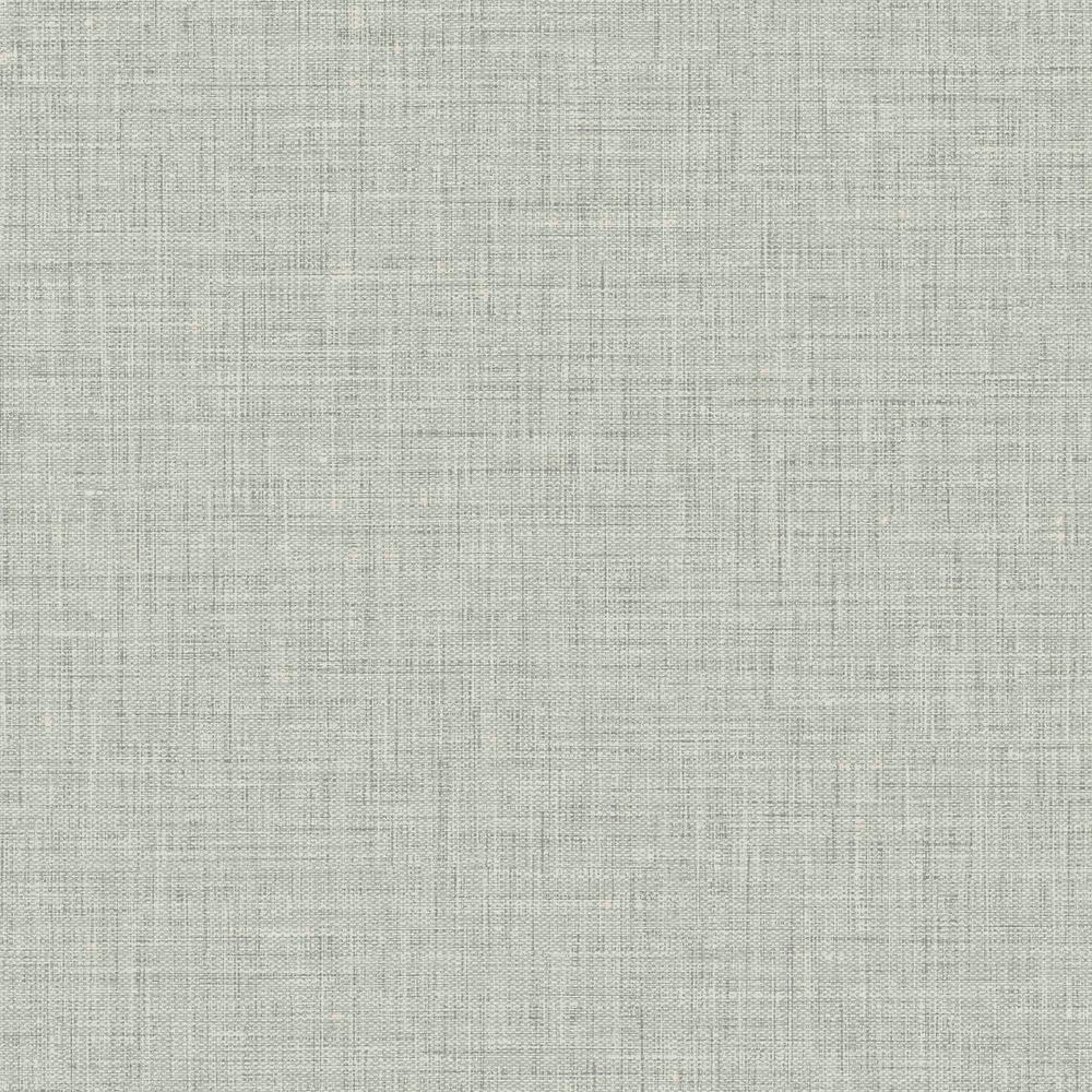 Easy Linen Fog Gray Winter Mist Embossed Vinyl Wallpaper