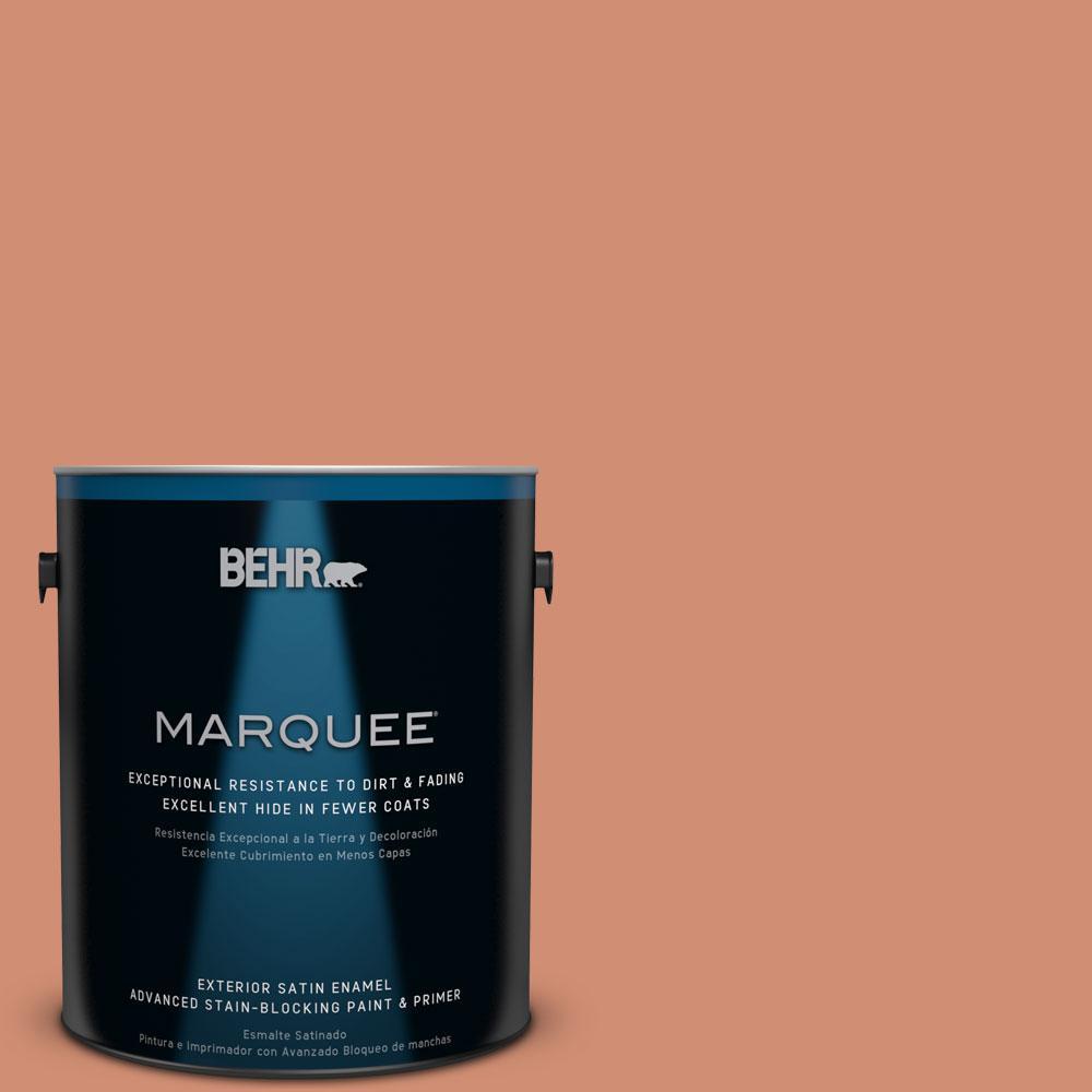 BEHR MARQUEE 1-gal. #M200-5 Terra Cotta Clay Satin Enamel Exterior Paint