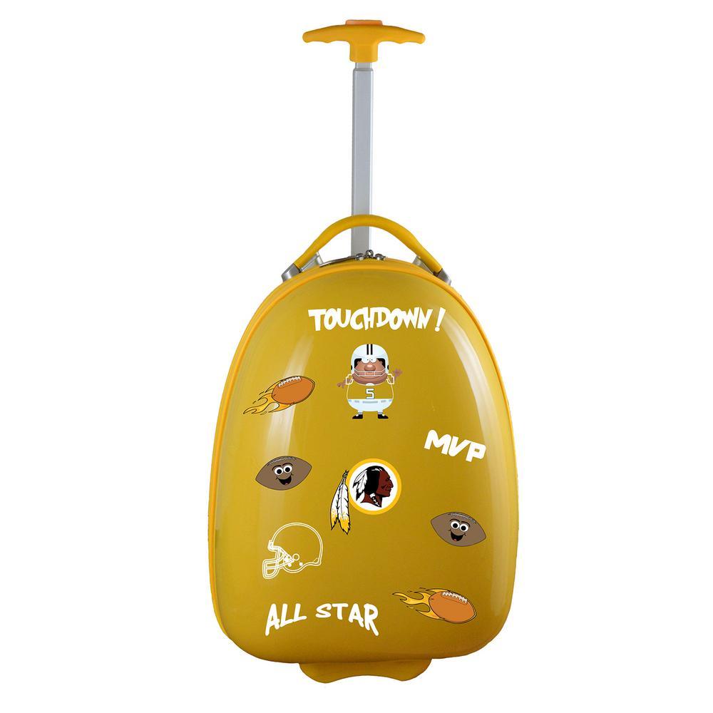 NFL Washington Redskins 18 in. Yellow Kids Pod Luggage Suitcase