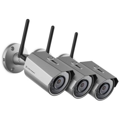 Amcrest ProHD Outdoor Bullet 3MP (2304px1296p) WiFi Wireless IP Surveillance Camera with IP67 Weatherproof, Silver (3-Pack),...