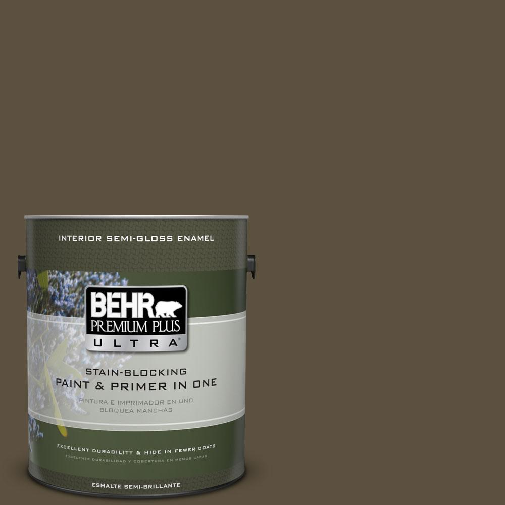 1 gal. #750D-7 Hampton Semi-Gloss Enamel Interior Paint and Primer in