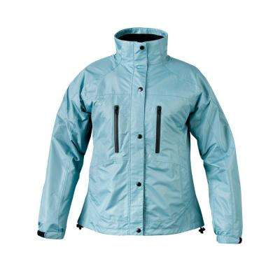 Ladies RX X-Large Aqua Blue Rain Jacket