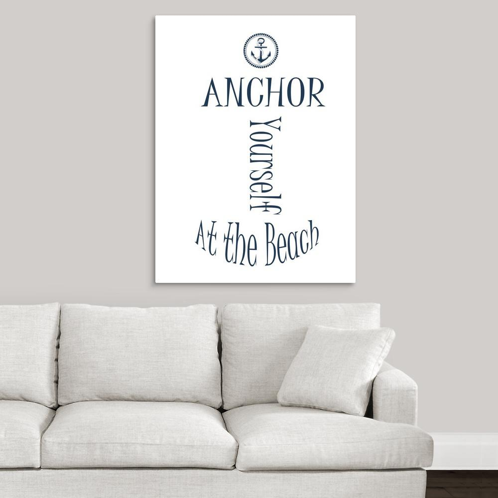 Greatbigcanvas anchor yourself white by sheldon lewis canvas greatbigcanvas anchor yourself white by sheldon lewis canvas wall art solutioingenieria Gallery