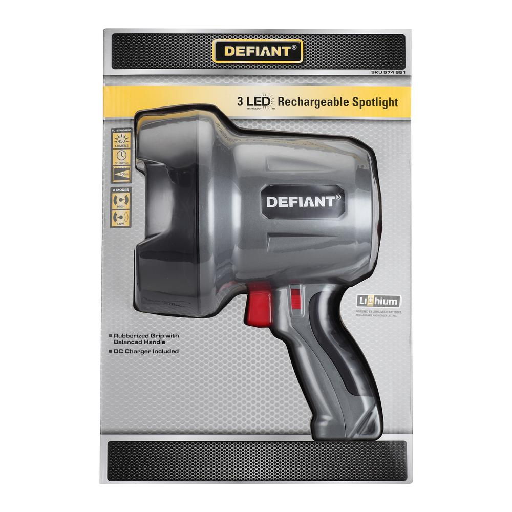Led Spotlight Hj: Defiant 450-Lumen Rechargeable LED Spotlight-HD1512