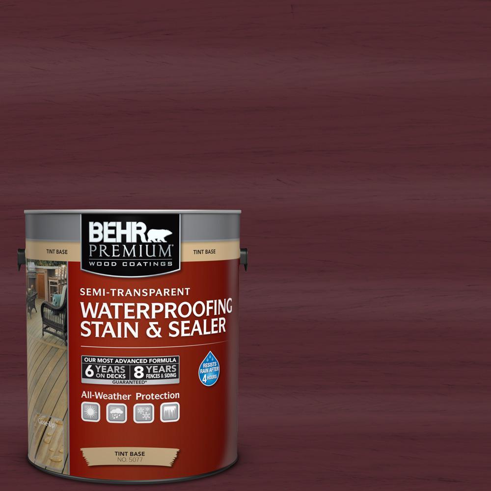 BEHR Premium 1 gal. #ST-106 Bordeaux Semi-Transparent Waterproofing Stain and Sealer