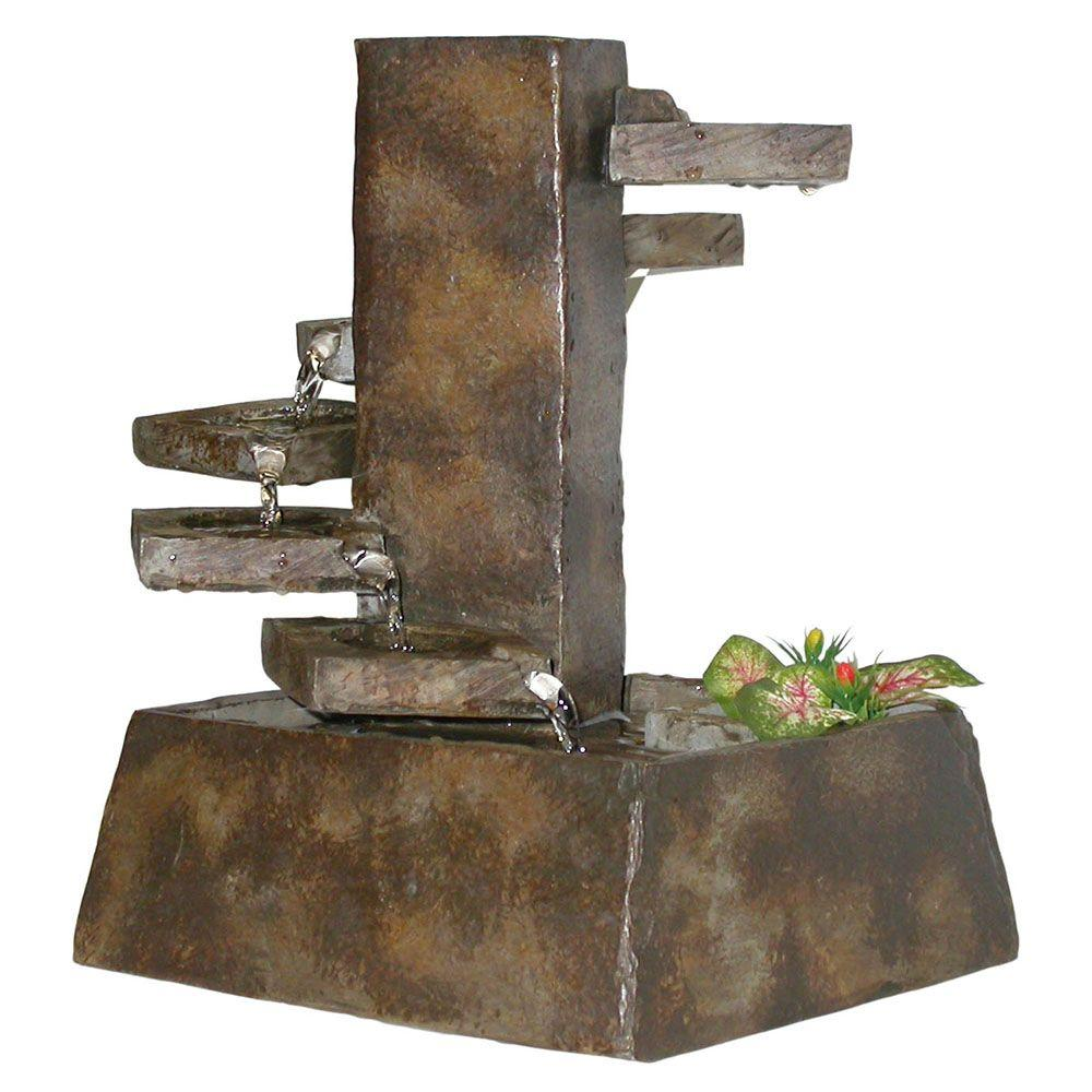 Tiered Stone Tabletop Fountain