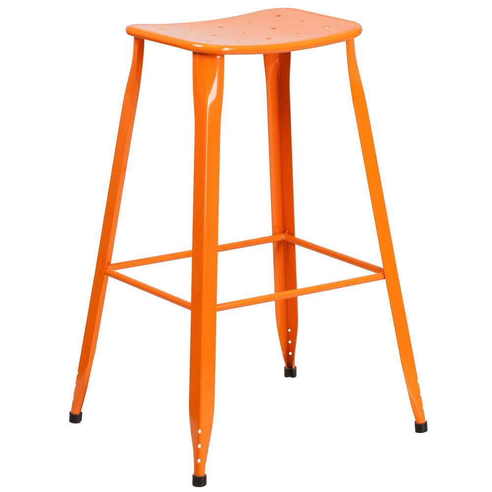 Orange bar stool
