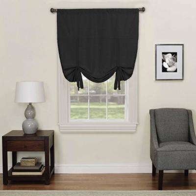 Kendall 63 in. L Black Polyester Rod Pocket Curtain (1-Pack)