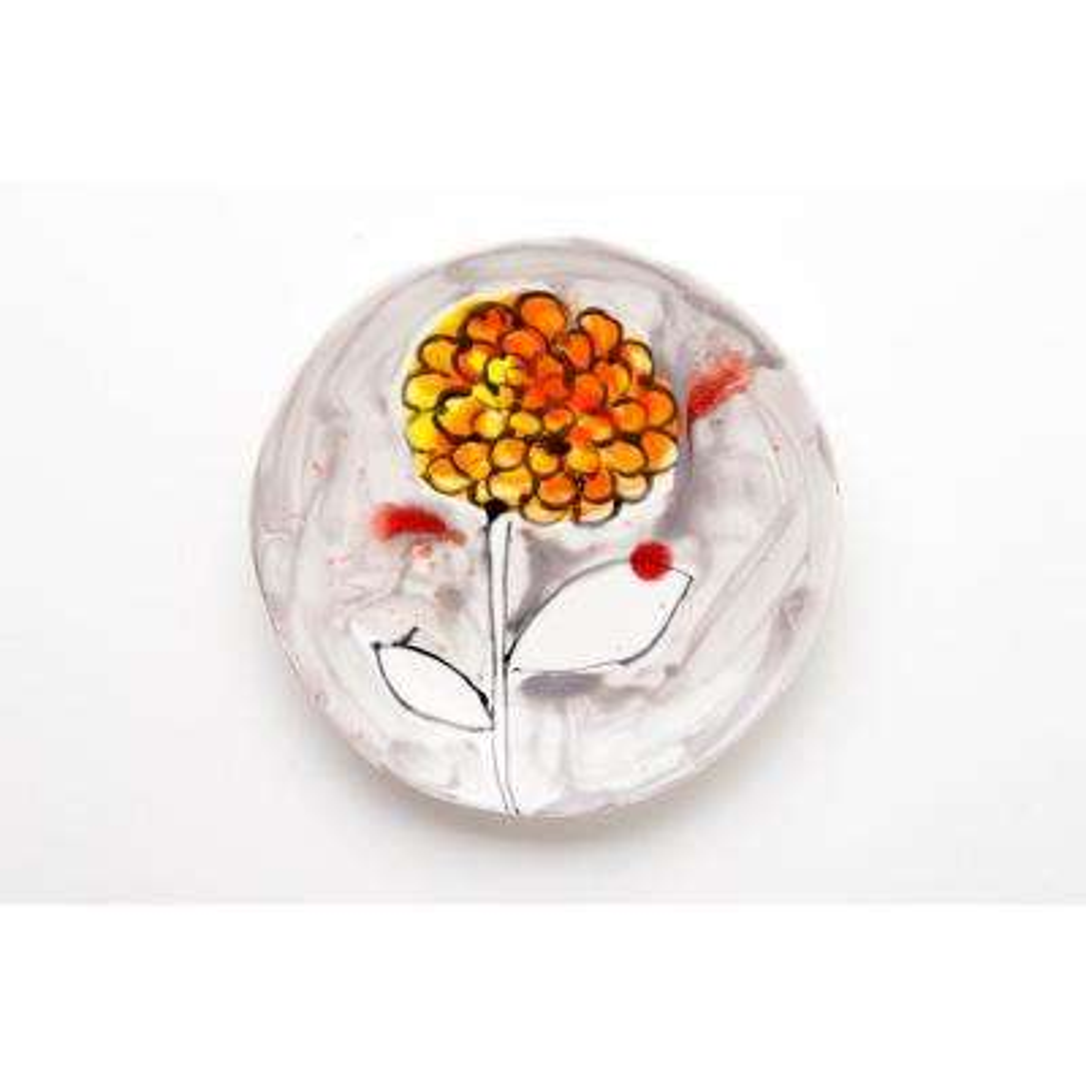 Fiori Ceramic Chrysanthemum Plate Set of 4