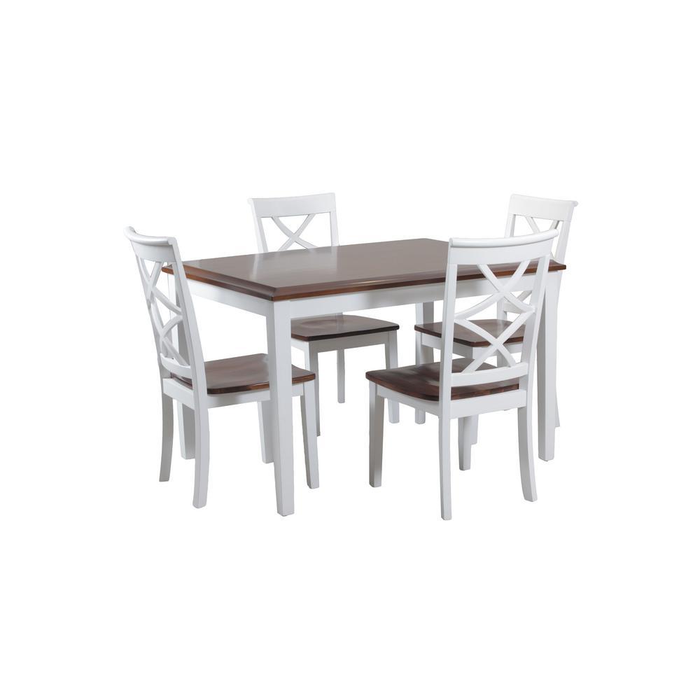 Wendover White Dining Set (5-Piece)
