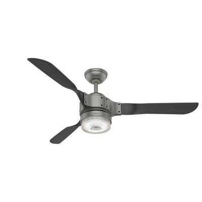 Apache 54 in. LED Indoor Matte Silver Wi-Fi Enabled Apple HomeKit and Alexa Compatible Ceiling Fan with Remote