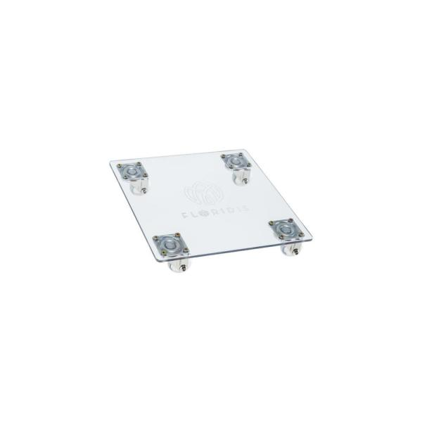 Square 13.78 in. x 13.78 in. x 2.4 in. Clear Polycarbonate Planter Caddy