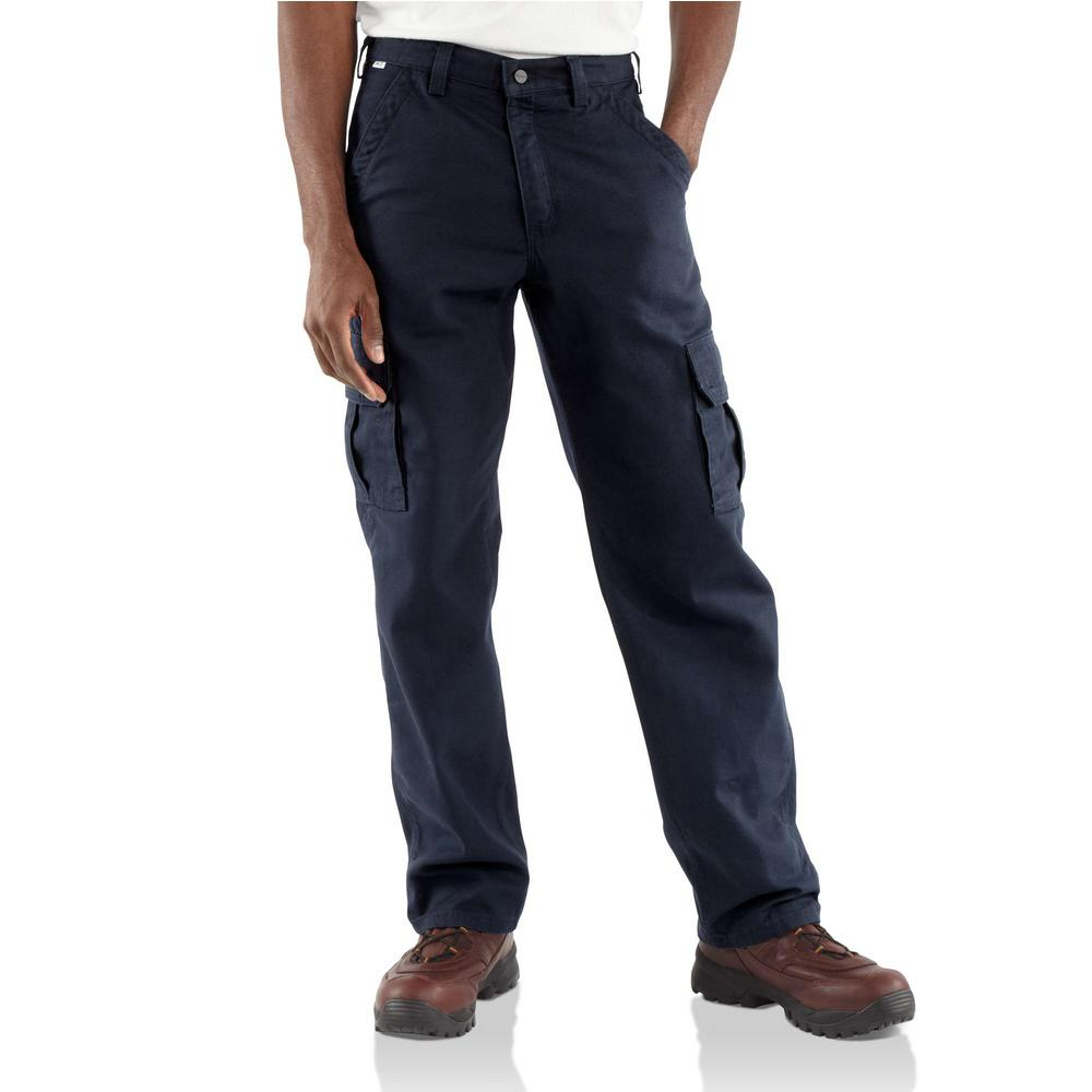 20579f0be41 Carhartt Men's 32 in. x 30 in. Dark Navy FR Cargo Pant-FRB240-DNY ...