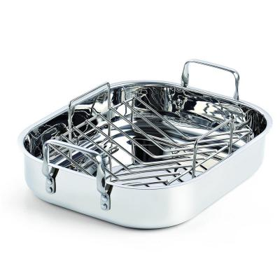 12 Qt. Stainless Steel Roaster Roasting Pan with Rack