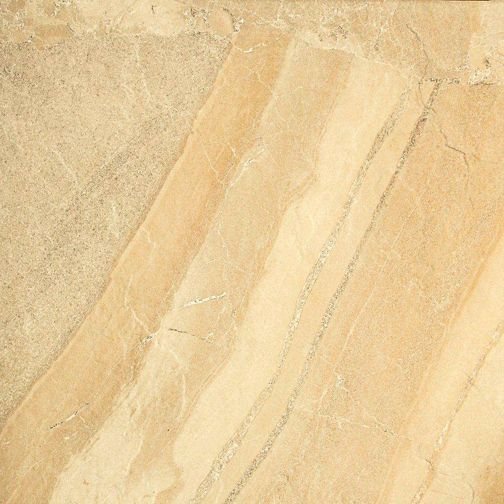 Ayers Rock Golden Ground 6-1/2 in. x 6-1/2 in. Glazed Porcelain