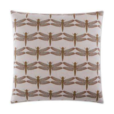 Skimmer Feather Down 24 in. x 24 in. Standard Decorative Throw Pillow