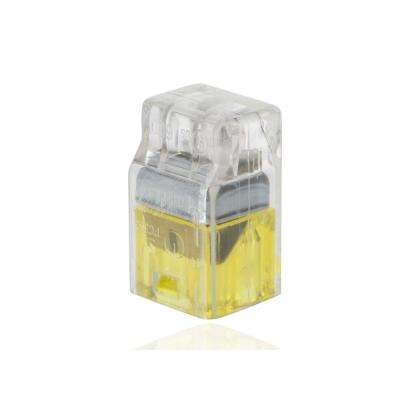 22-12 AWG, 2-Wire Push In Connector, Yellow (100-Pack)