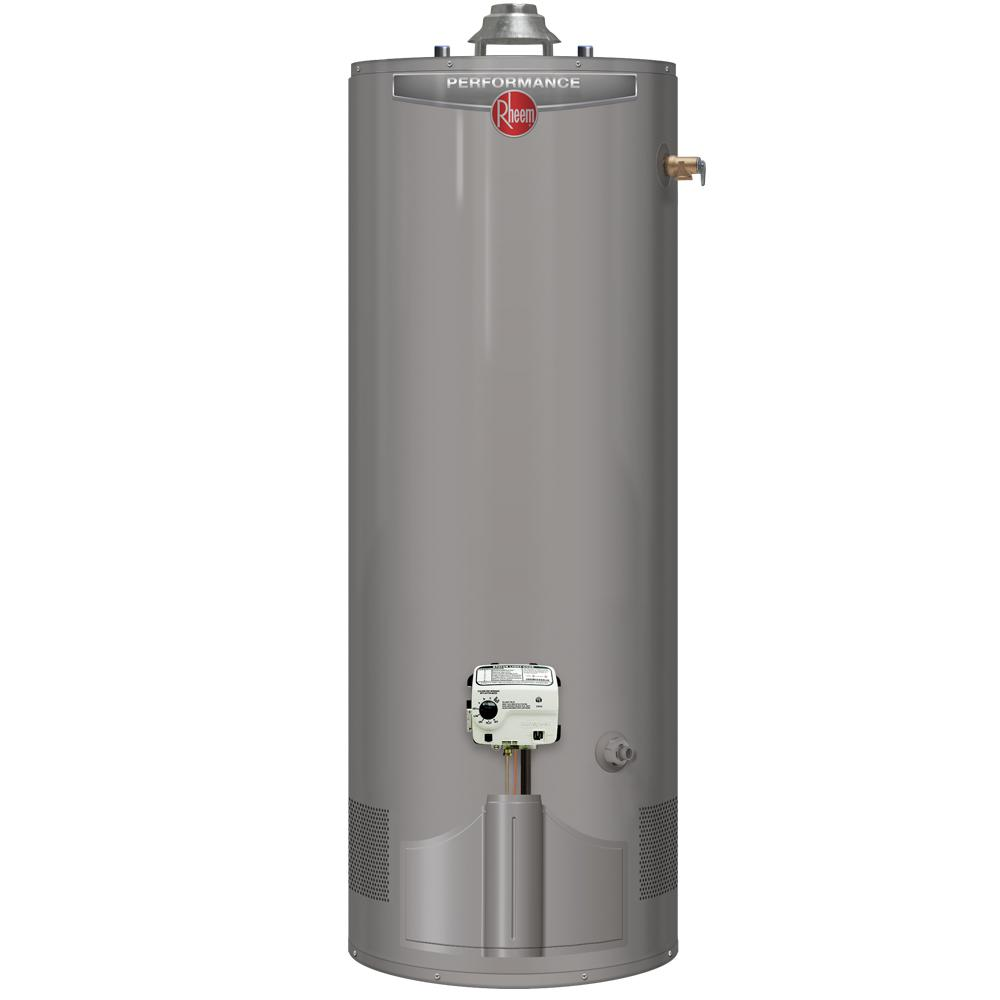 Rheem Performance 50 gal. Short 6-Year 40,000 BTU Ultra Low NOx (ULN) Natural Gas Tank Water Heater