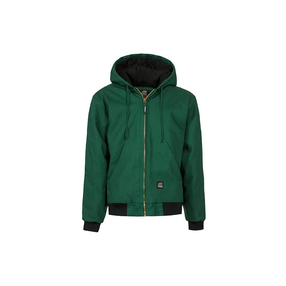 Men's Large Regular Green 100% Cotton Original Hooded Jacket