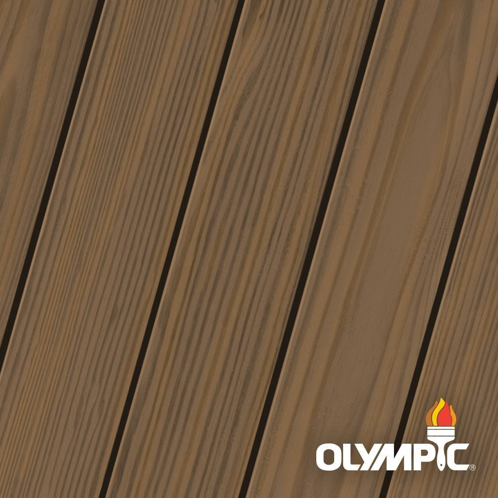 Olympic Maximum 1 gal. Black Walnut Semi-Transparent Exterior Stain and Sealant in One